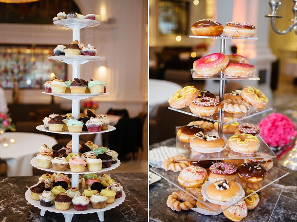 Krispy Creme & Hummingbird Bakery wedding cakes
