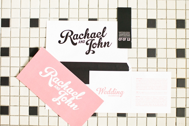 Modern wedding stationery by Canvas Boutique