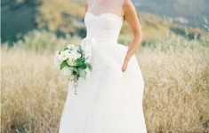 illusion neck wedding dress