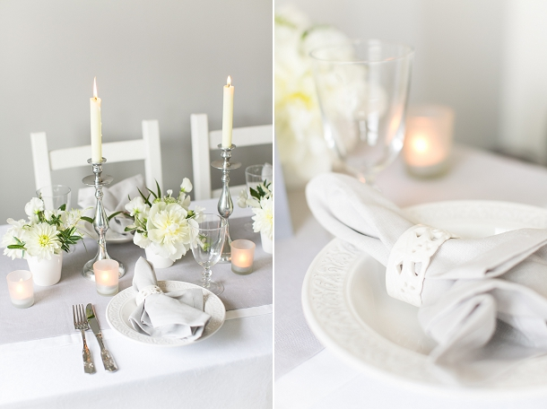 Luxury White Amp Grey Wedding Table Setting Inspiration From
