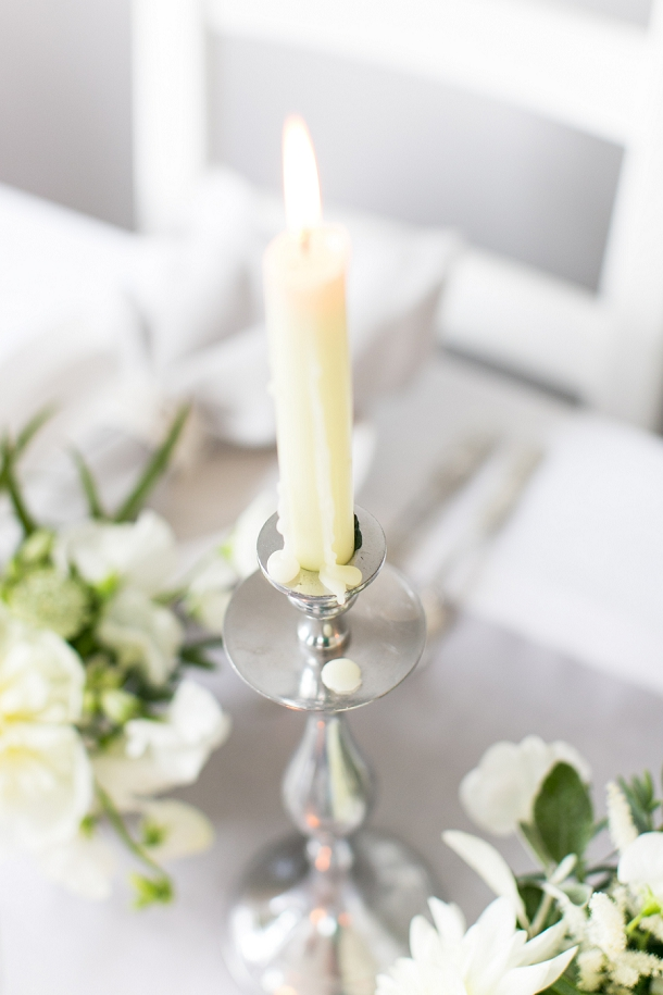 White & grey timeless wedding styling inspiration