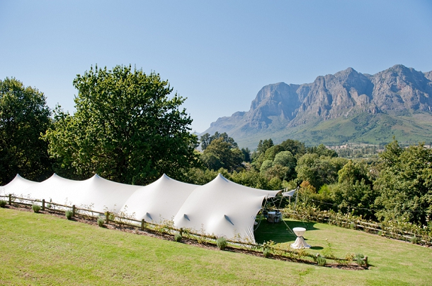 Free form tent wedding