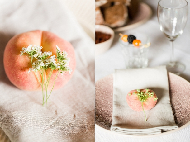 Intimate Peach & Blue Garden Wedding at Het Tuinhusje by Anouschka Rokebrand on www.blovedweddings.com