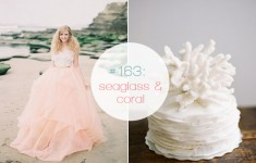 mint, teal, peach, coral, beach seaside wedding mood board ideas