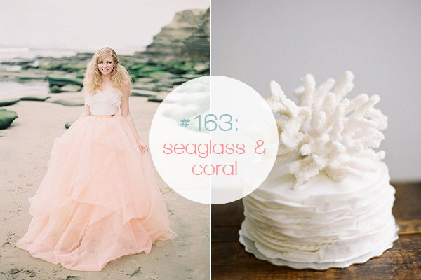 Romantic Coral Amp Seaglass Green Wedding Inspiration