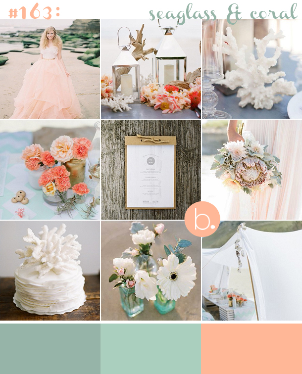 peach and sea green wedding cake coral amp seaglass green wedding inspiration 18135