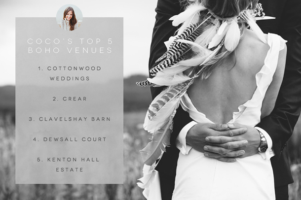 Boho Wedding venues picked by Coco Wedding Venues Emma Hla