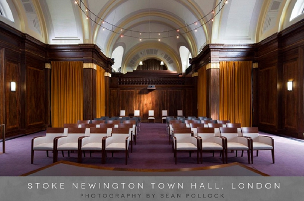 5-coco-wedding-venues-for-bloved-top-5-modern-vintage-venues-stoke-newington-town-hall-sean-pollock-photography