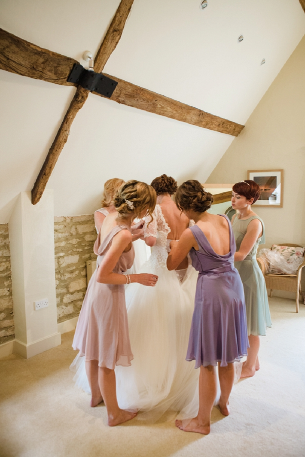pastel bridesmaids dresses from Dessy