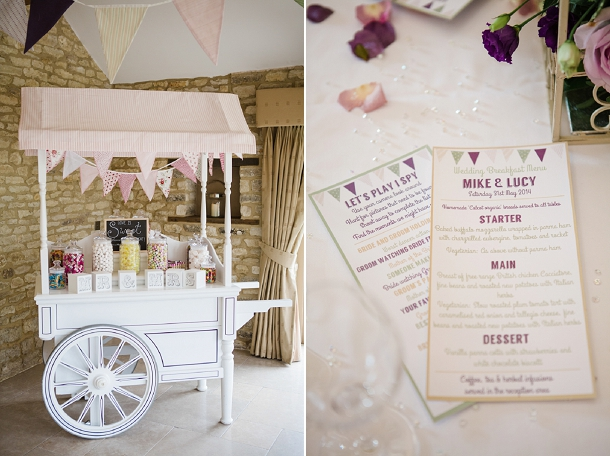 wedding sweetie cart
