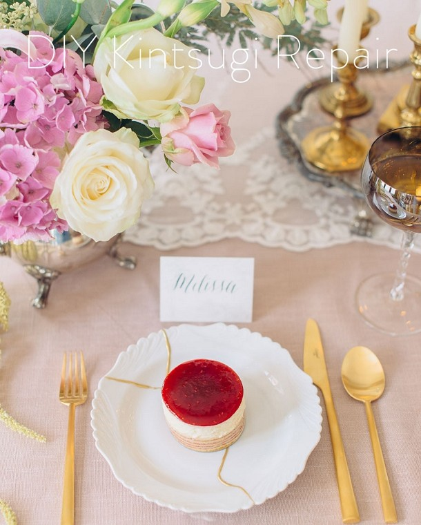 DIY wedding crockery
