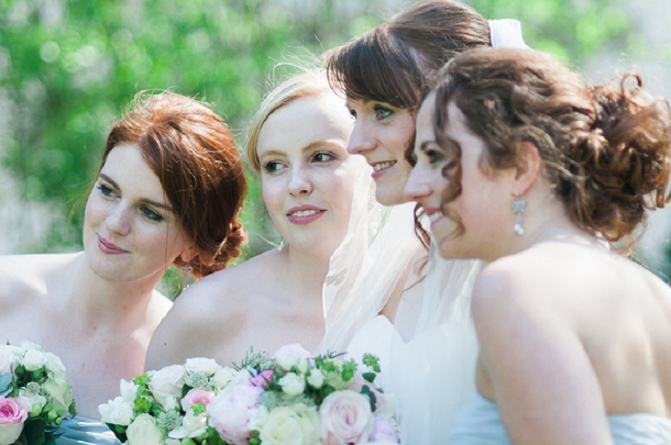 powder blue & blush bridesmaids