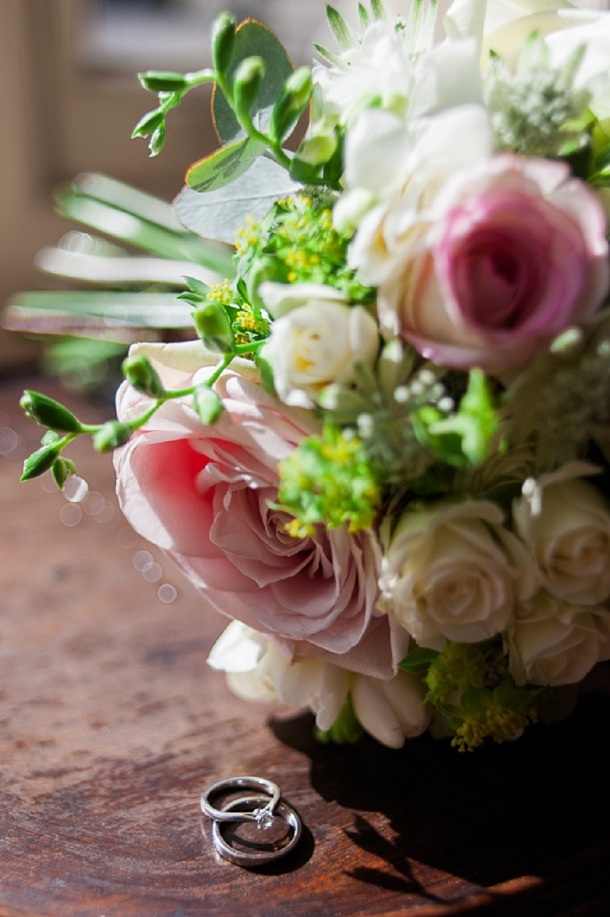 Ivory & blush rose wedding bouquet
