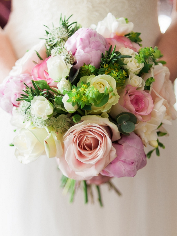 pink & ivory rose and peony  bridal bouquetbouquet