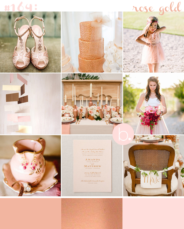 Blush Rose Copper Gold Romantic Summer wedding inspiration