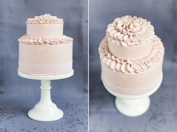 Lavender petal texture buttercream wedding cake by Karenanna Cakes