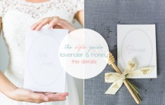 Lavender & honey wedding stationery