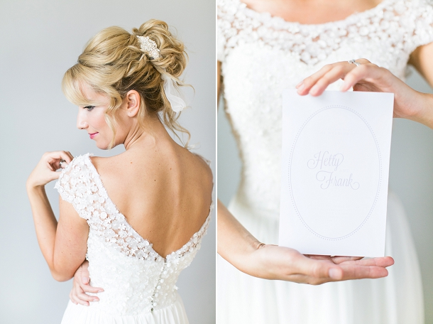 Emma Tindley 'Faith' wedding dress custom design for Luella's Boudoir