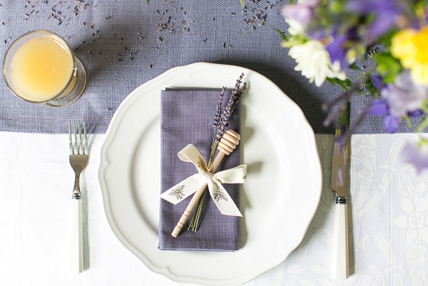 Honey themed place setting