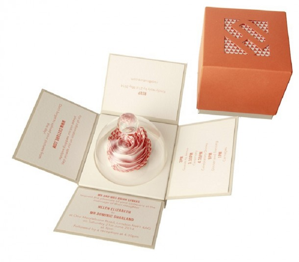 floral scented wedding invitation