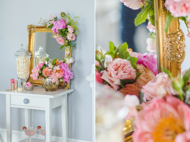A chic & unique styled shoot for Bridal Musings Wedding Blog with Pink Peonies & Red Lipstick by Louise Beukes Styling and Marianne Taylor Photography on www.blovedweddings.com