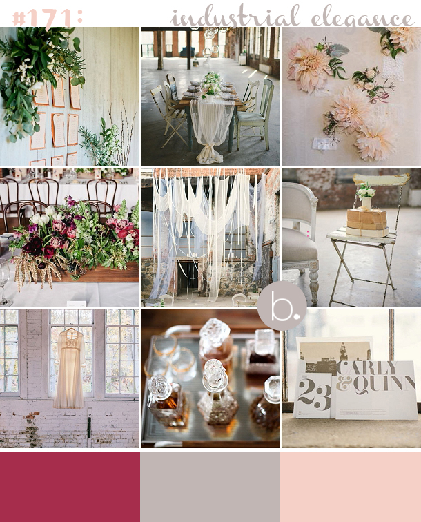 171 Industrial Elegance Vintage and Chemistry inspired wedding moodboard for You & Your Wedding Magazine by Louise Beukes Styling on www.blovedweddings.com