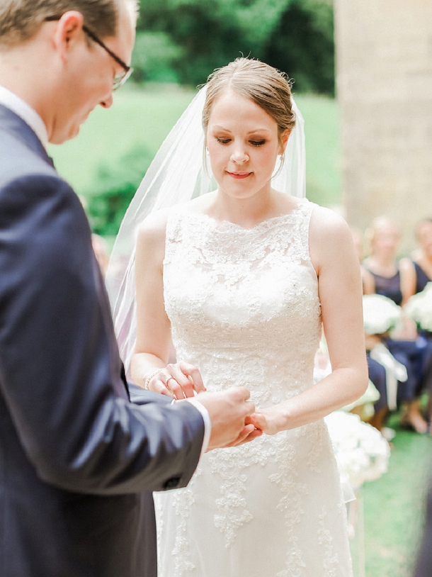 Outdoor wedding ceremony at Coombe Lodge