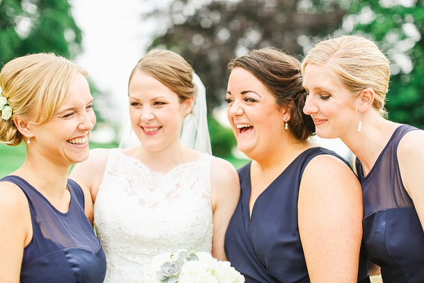 Navy bridesmaids dresses from Debenhams