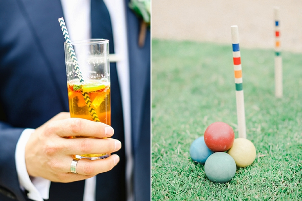 Summer wedding lawn games at Coombe Lodge
