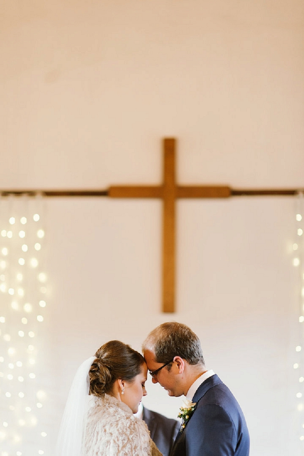 Ceremony fairylights backdrop