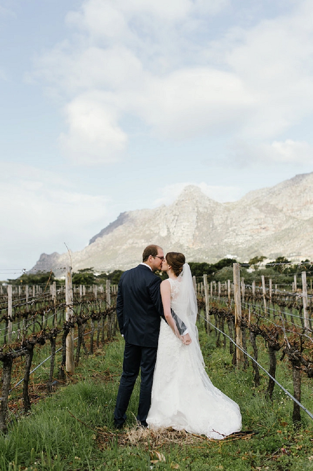 Winter winelands wedding blessing by Yolande Marx