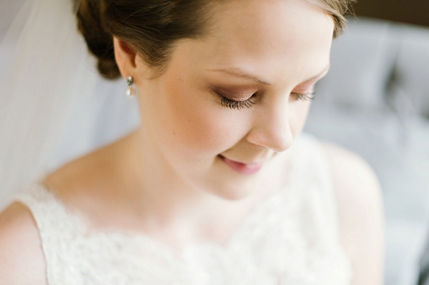 Natural winter bridal makeup
