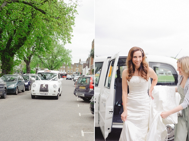 white london taxi wedding car