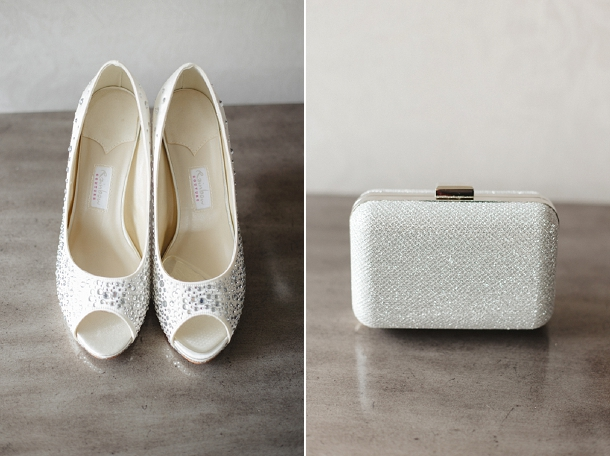 sparkly bridal clutch bag