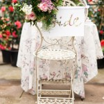 Botanical bride & groom chair sign