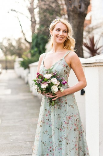 floral bridesmaids dress