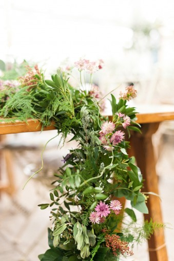 Botanical Floral runner by Philippa Craddock Flowers