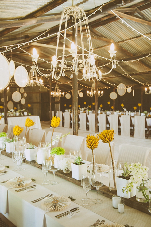 Kallie & Ansu's Modern Organic South African Wedding with Yellow Painted Proteas by Blackframe Photography (3)