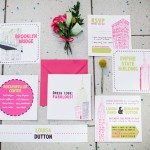 Sex and the City inspired wedding stationery suite