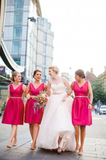 sex and the city bridal party portraits