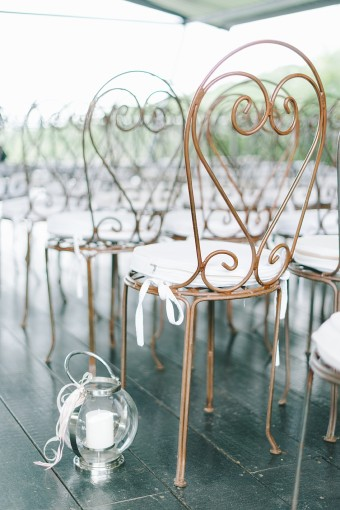 pretty ceremony chairs