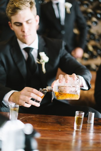 groom whisky shot