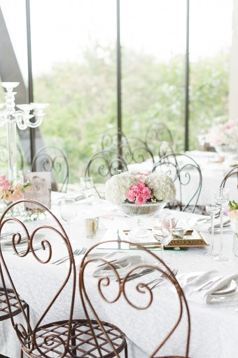 blush wedding table decor