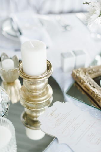 gold candle pillars
