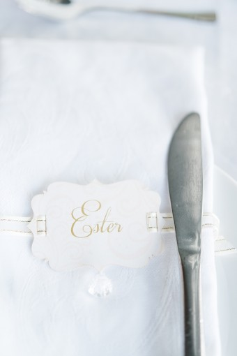 elegant calligraphy place card