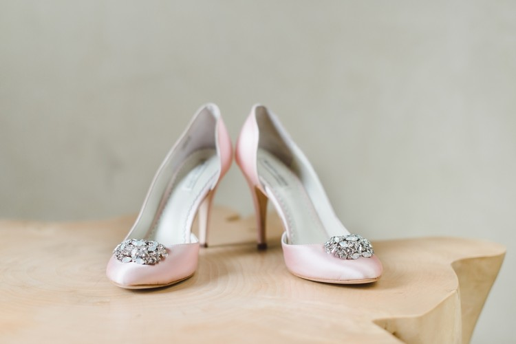 Blush pink benjamin adams wedding shoes