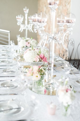 crystal table candelabra