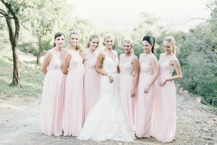 Blush bridemaids dresses