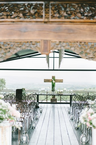 South africa wedding ceremony with a view