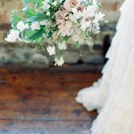 Blush & powder blue organic bouquet